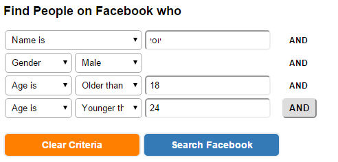 search people on facebook